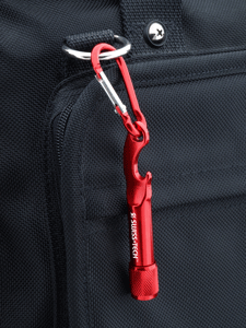 Carabiner Flashlight with Bottle Opener