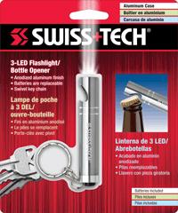 3 LED Flashlight/Bottle Opener w/Clamshell