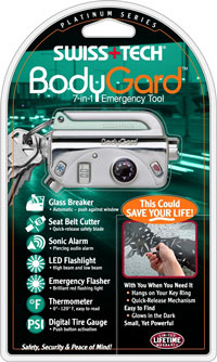 BodyGard® 7-In-1 Platinum Series Emergency Tool w/Clamshell