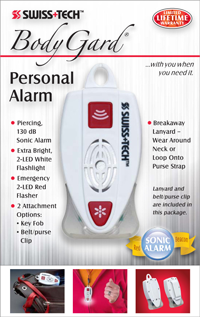 BodyGard® Personal Alarm w/Small Clear Box