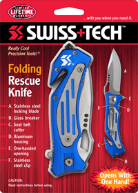 Folding Rescue Knife w/Clamshell