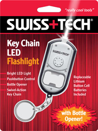 Key Chain LED Flashlight with Bottle Opener w/Clamshell