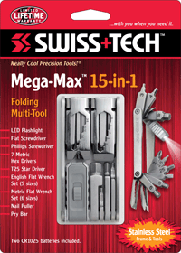Mega-Max™ Folding Multi-Tool w/Clamshell