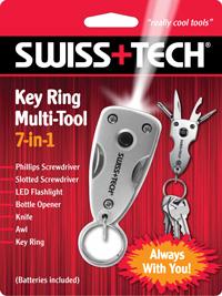 Key Ring Multi-Tool 7-in-1 w/Clamshell