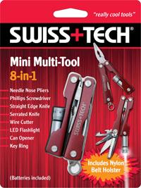 Mini Multi-Tool 8-in-1 w/Clamshell