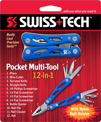 Pocket Multi-Tool 12-in-1 w/Clamshell