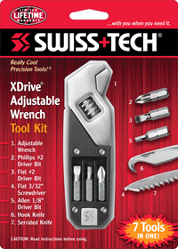 XDrive® Adjustable Wrench Tool Kit w/Clamshell